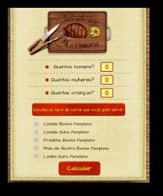 Programação Calculadora de Churrasco