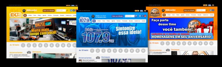 rádios case criação de sites