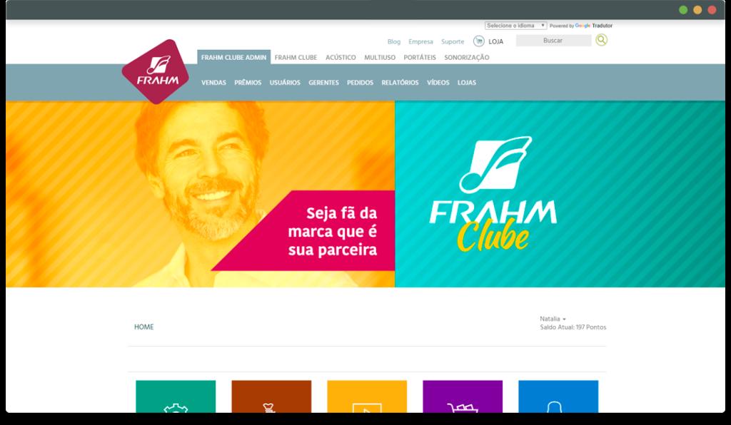 Frahm Clube - Login