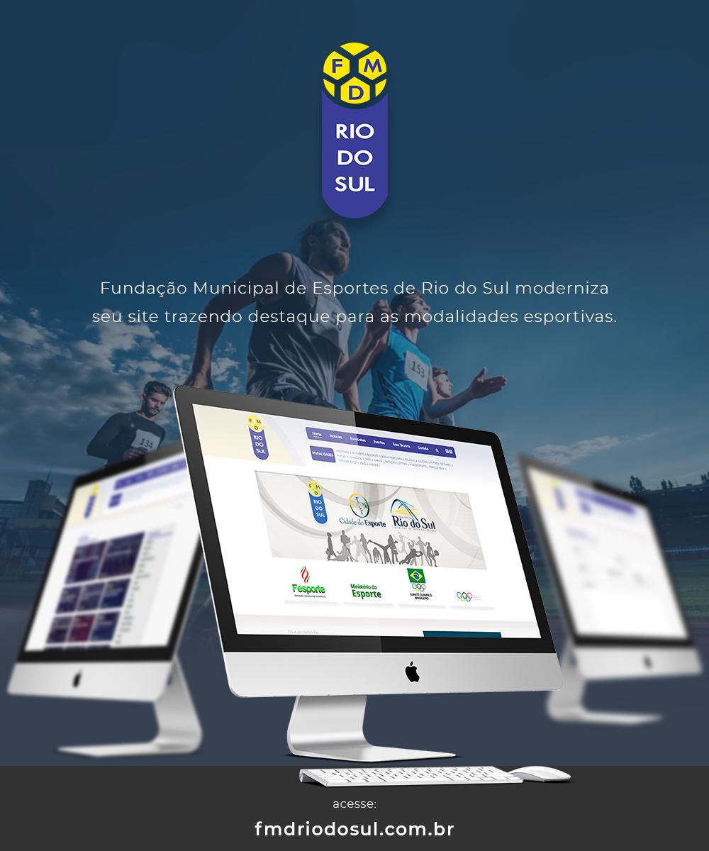 a3d73793d8 Fundação de Esportes de Rio do Sul moderniza seu site! - Área Local