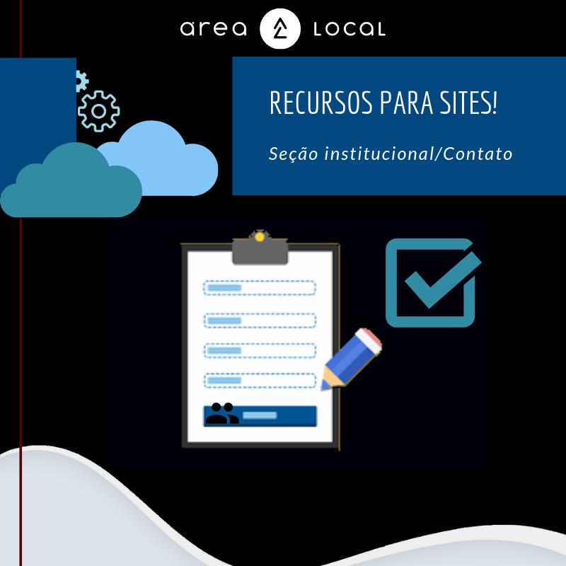 Recursos site: Formulário contato