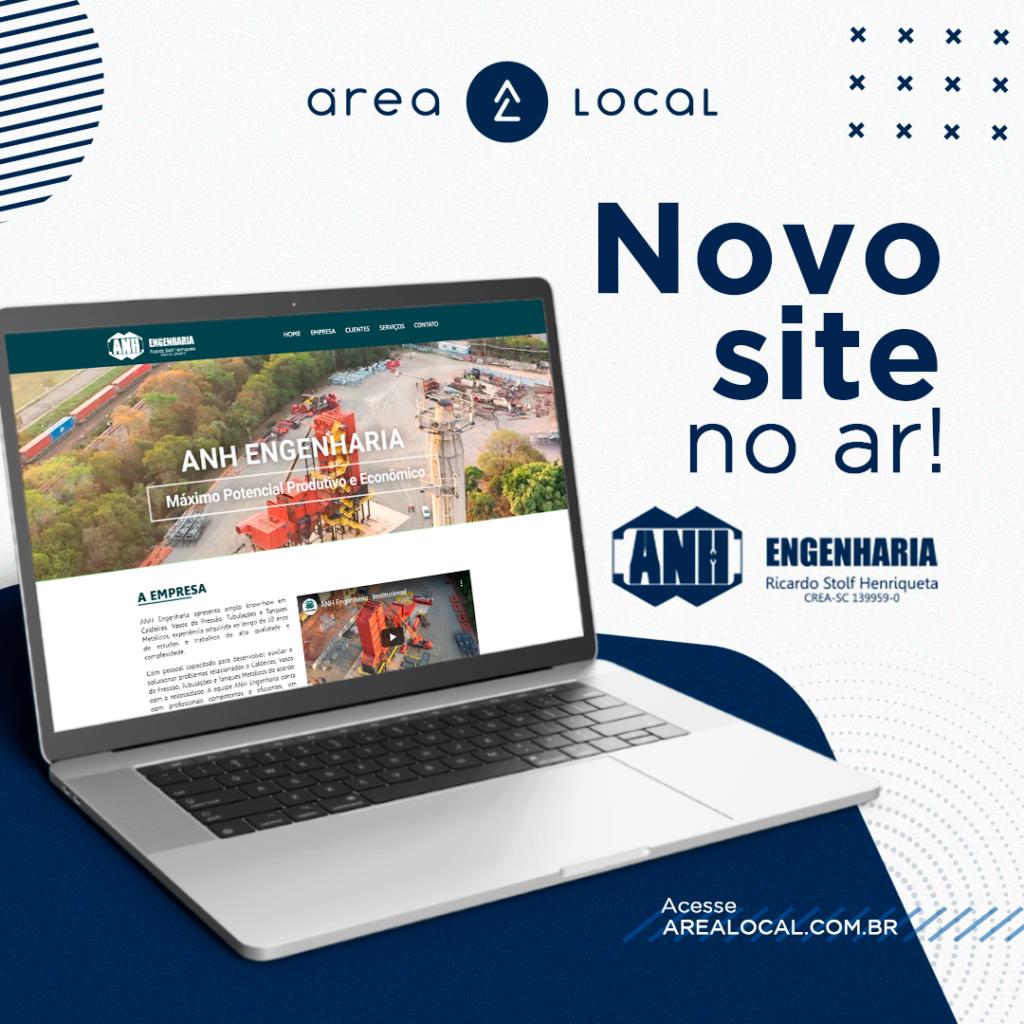 Novo site ANH Engenharia