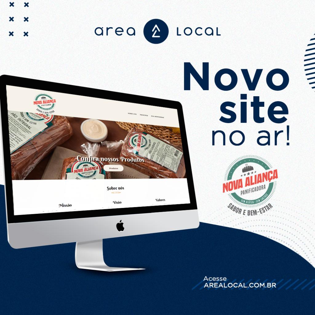 Panificadora Nova Aliança lança novo site