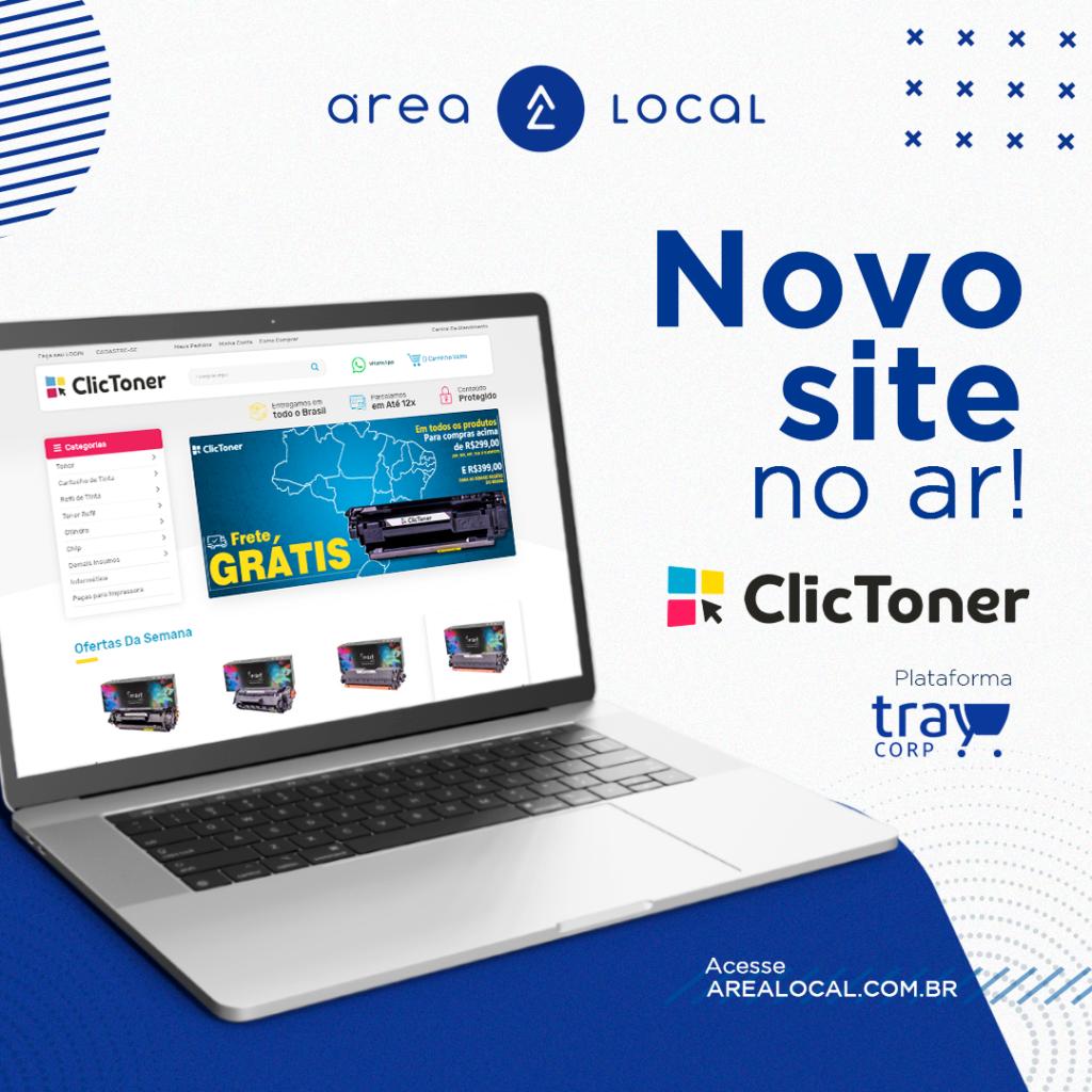 Clic Toner lança novo site